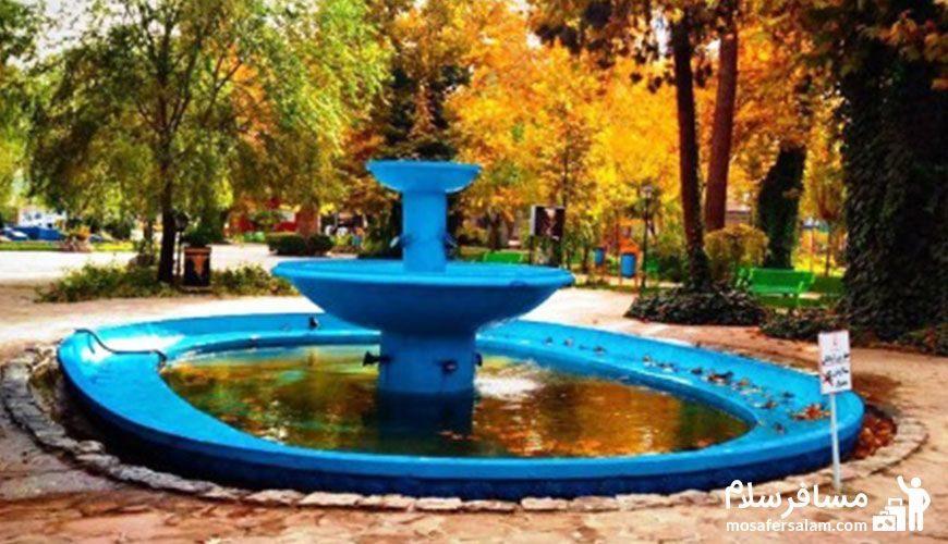 باغ ملی مشهد در پاییز