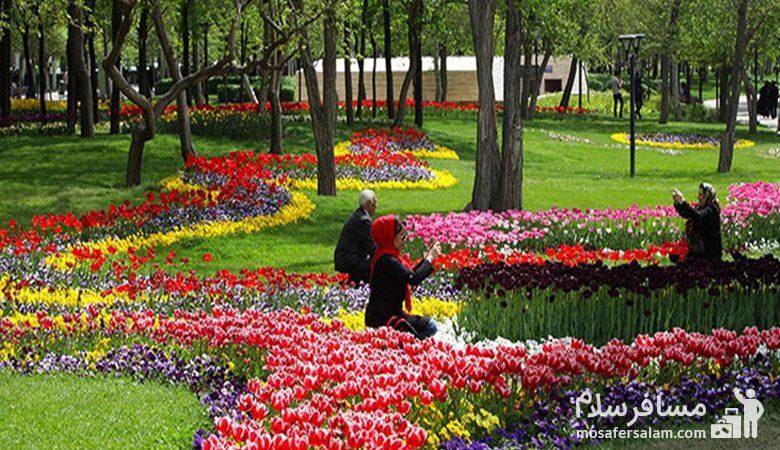 باغ رز پارک ملت مشهد