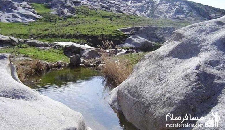 نمایی از هفت حوض مشهد