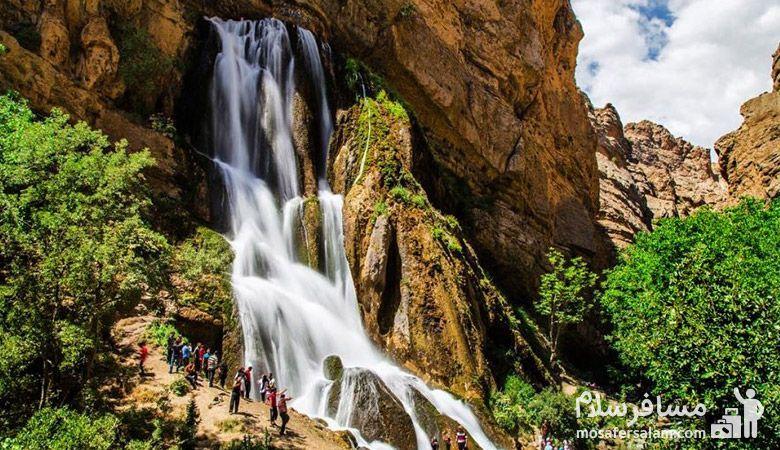 آبشار آب سفید | 6 آبشار باورنکردنی ایران