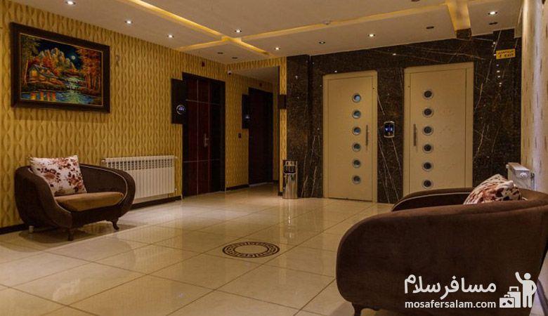 لابی هتل سپنتا مشهد