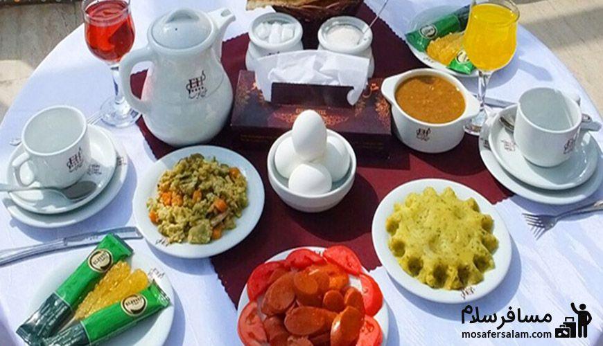 منوی غذای هتل عماد مشهد