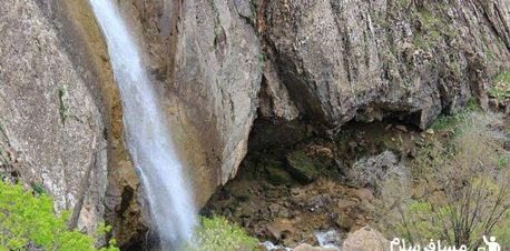 نمایی از آبشار گویله