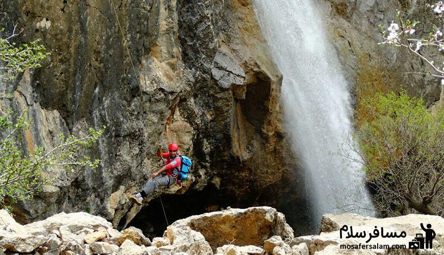 کوهنوردی در اطراف آبشار