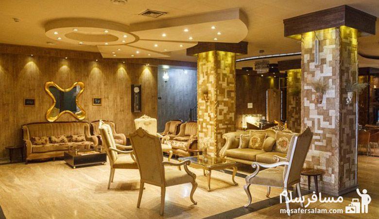 لابی هتل آپادانا مشهد، هتل آپادانا مشهد، گروه گردشگری مسافرسلام