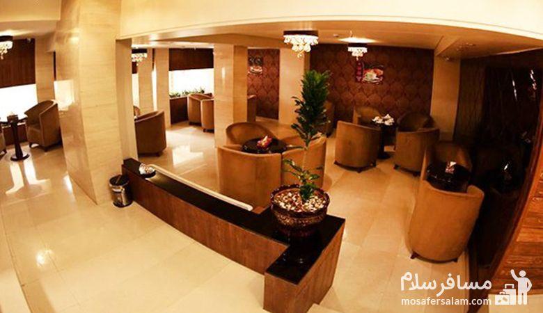 لابی هتل جواهر شرق، هتل جواهر شرق مشهد، رزرواسیون مسافرسلام