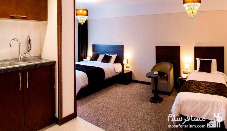 اتاق هتل جواهر شرق، هتل جواهر شرق مشهد، رزرواسیون مسافرسلام