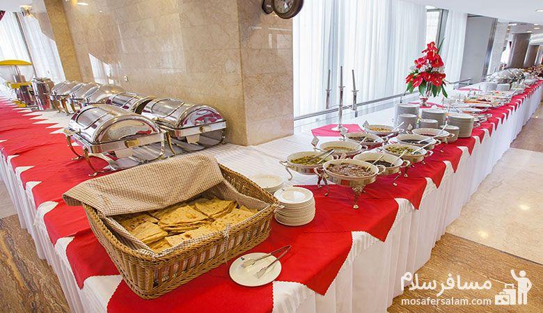 رستوران هتل توس مشهد، هتل توس مشهد، رزرواسیون مسافرسلام