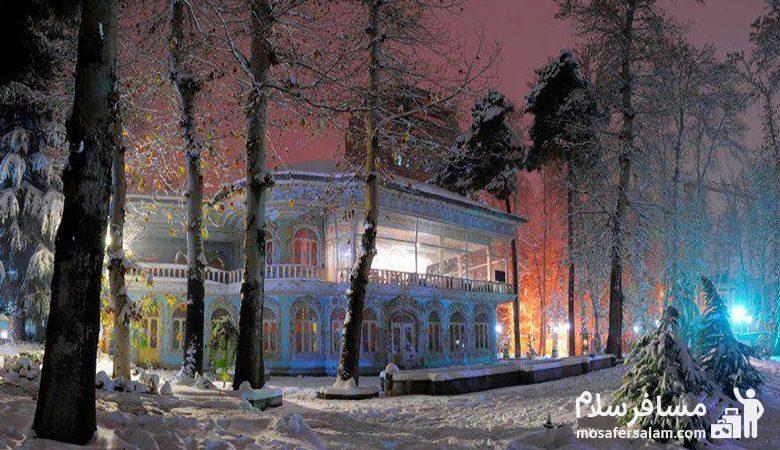 نمایی از زمستان موزه زمان تهران
