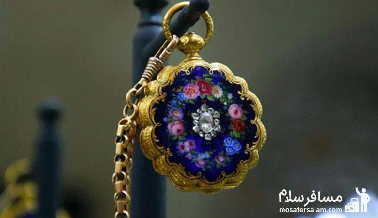 ساعت جیبی زیبا در موزه زمان تهران