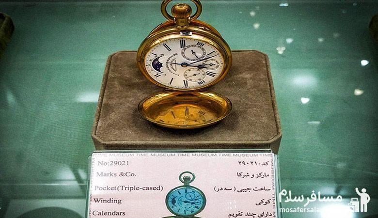 ساعتی قدیمی در موزه زمان تهران