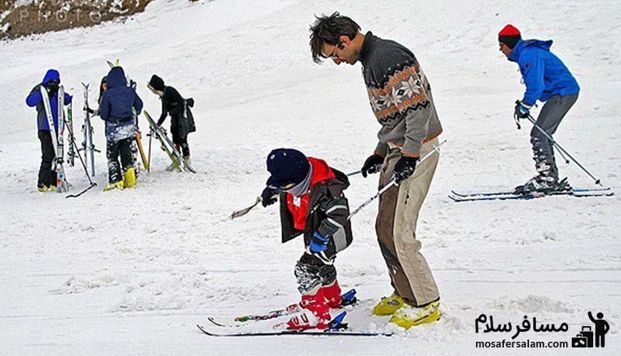 اسکی پدر وفرزند در شیرباد