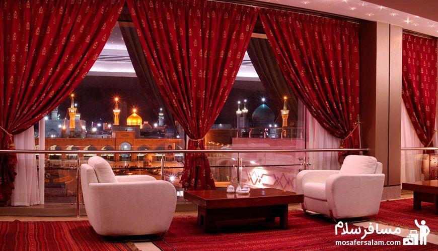 نمایی از اتاق هتل توس مشهد