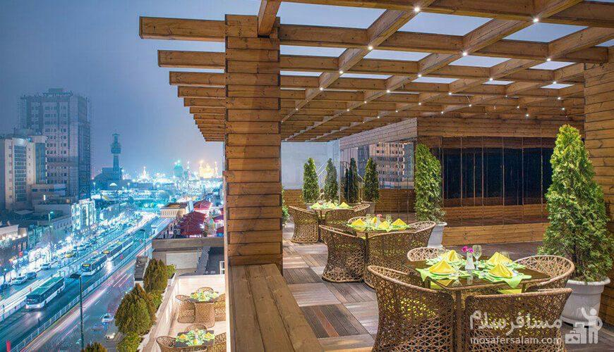 روف گاردن هتل جواهر شرق مشهد