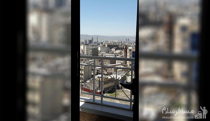 فضای باز رو به حرم هتل آپارتمان حریرستان مشهد