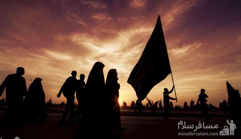 کاروان های پیاده به سمت حرم امام حسین (ع)