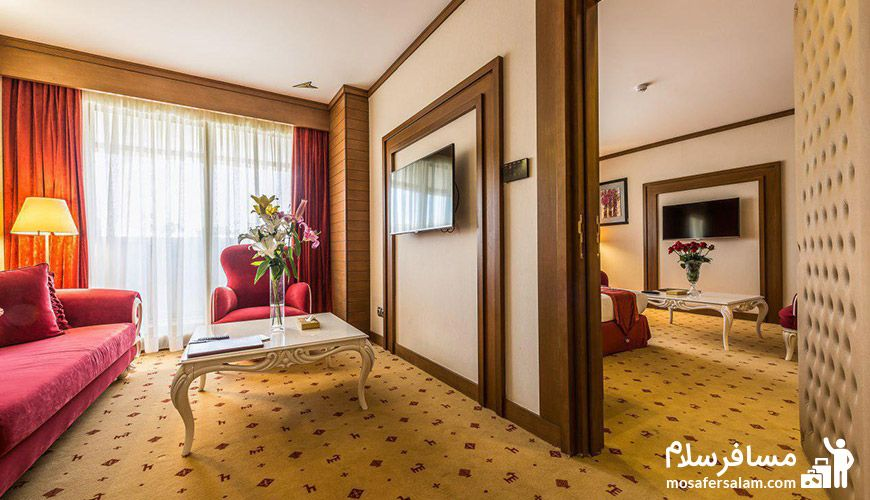 تصویری زیبا از اتاق های هتل آرمان مشهد