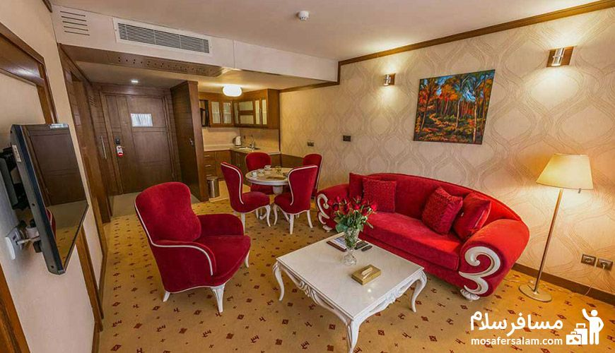 نمایی از اتاق هتل آرمان مشهد