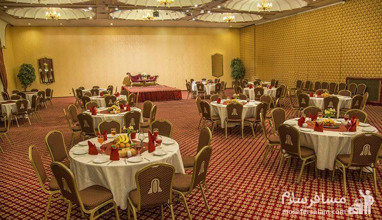 سالن عروسی هتل انقلاب تهران، رزرواسیون مسافرسلام