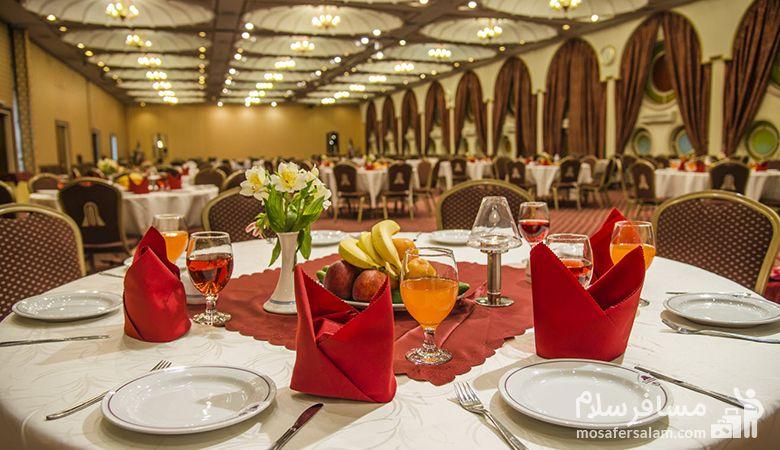 رستوران هتل انقلاب تهران، رزرواسیون مسافرسلام