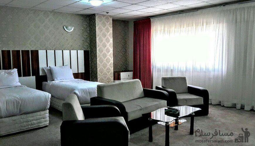 اتاق دوتخته هتل آپارتمان حریرستان مشهد
