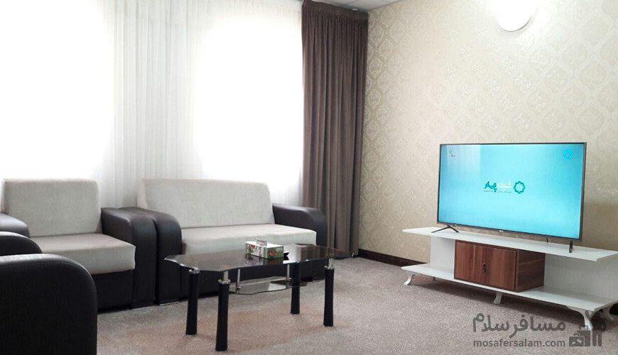 اتاق پذیرایی هتل آپارتمان حریرستان مشهد