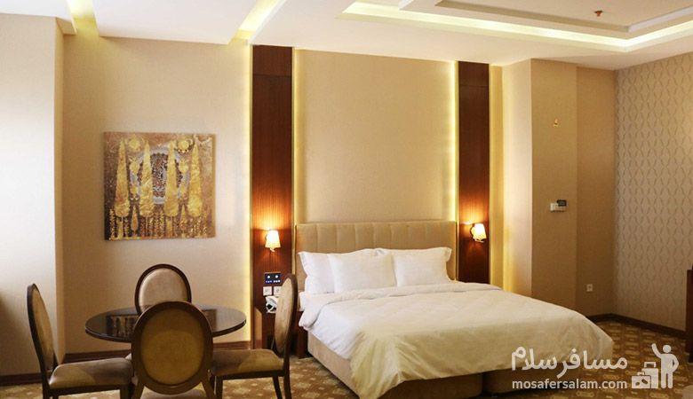 اتاق هتل رفاه مشهد، هتل آپارتمان رفاه مشهد، رزرواسیون مسافر سلام