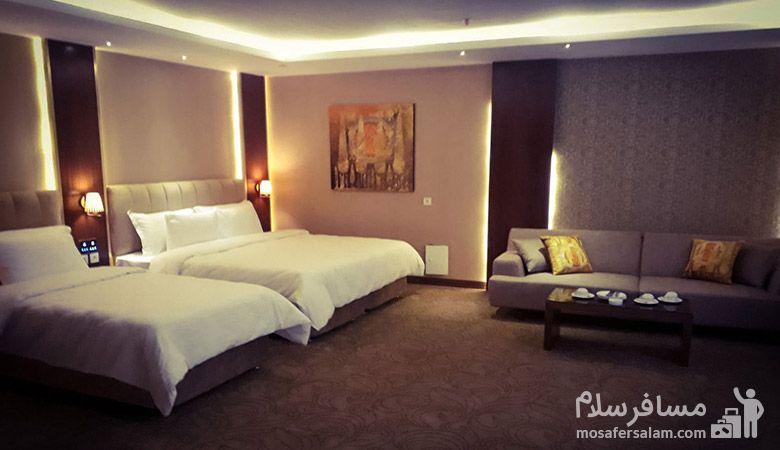 اتاق سه نفره هتل رفاه مشهد، هتل آپارتمان رفاه مشهد، رزرواسیون مسافر سلام