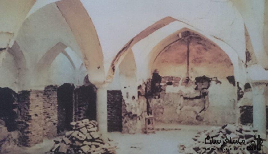 عکسی قدیمی از حمام شاه مشهد