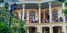 حیاط عمارت شاپوری در شیراز