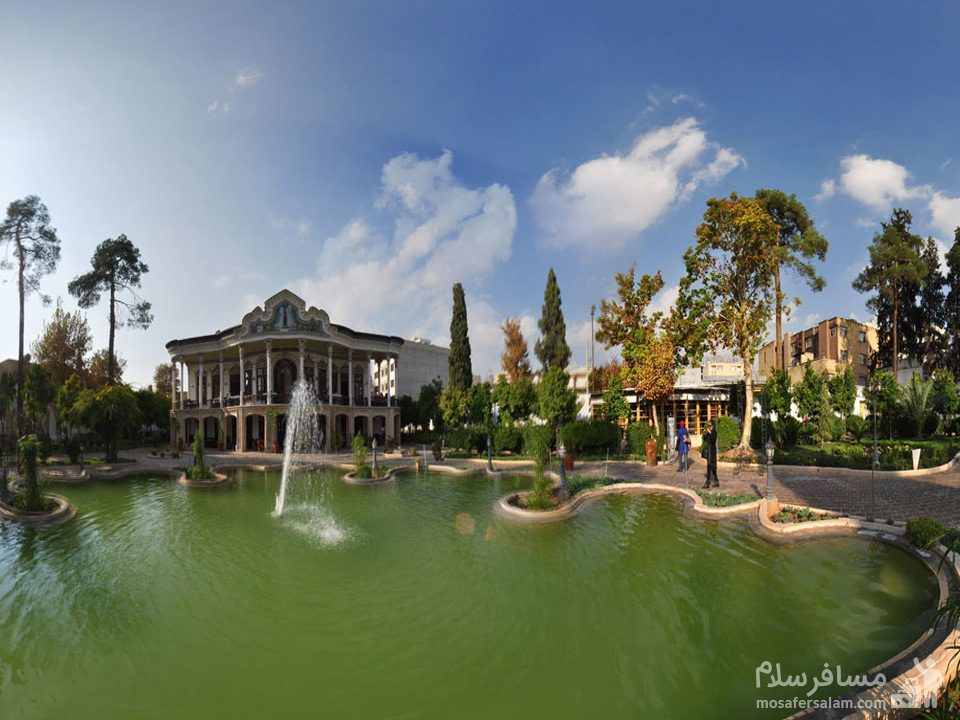 حوض عمارت شاپوری در شیراز