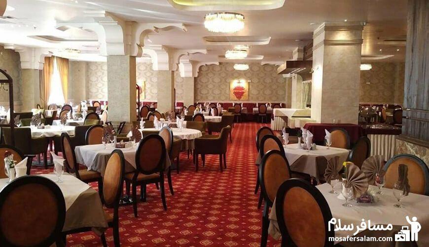 رستوران در هتل رفاه
