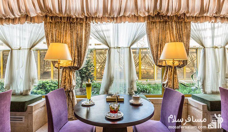 کافی شاپ هتل آرمان مشهد، رستوران هتل آرمان مشهد، رزرواسیون مسافرسلام