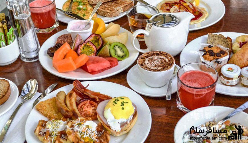 صبحانه در هتل جواد