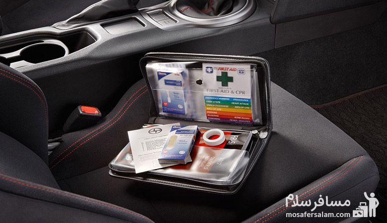 جعبه کمک های اولیه، مسافرسلام، سفر با ماشین