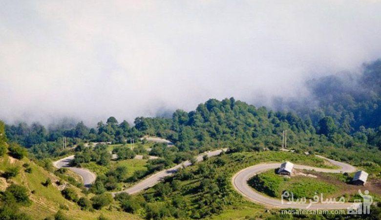 مسیر دسترسی به روستا فیلبند، طبیعت مازندران