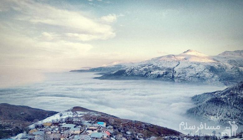 زمستان ییلاق فیلبند، مناطق دیدنی شمال ایران