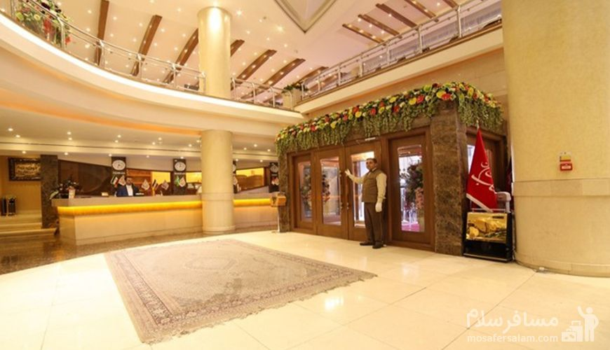 ورودی هتل توحید نوین مشهد, هتل توحید نوین مشهد, رزرواسیون مسافر سلام