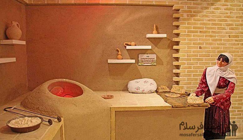 نانوایی خانگی در موزه نان مشهد