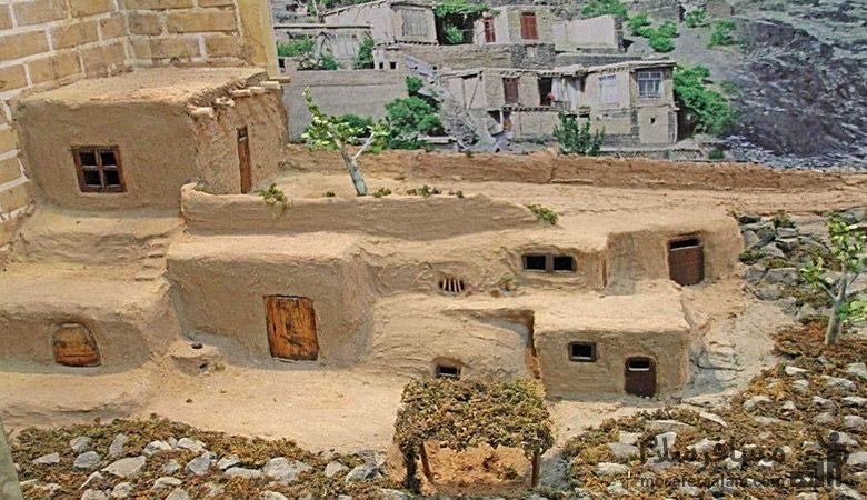 نمادی از روستا در موزه نان مشهد