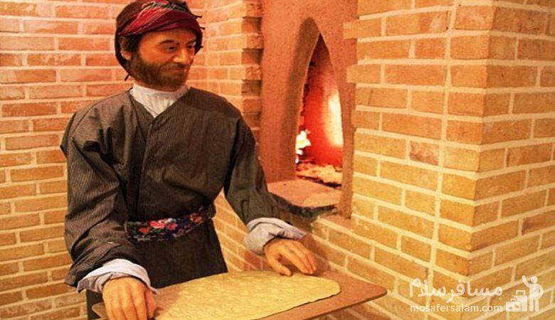 نانوا در موزه نان مشهد
