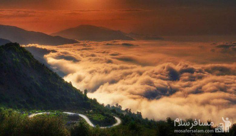 غروب زیبا فیلبند مازندران