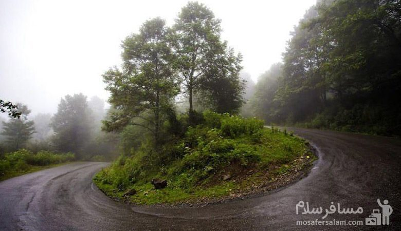 جاده زیبا هراز