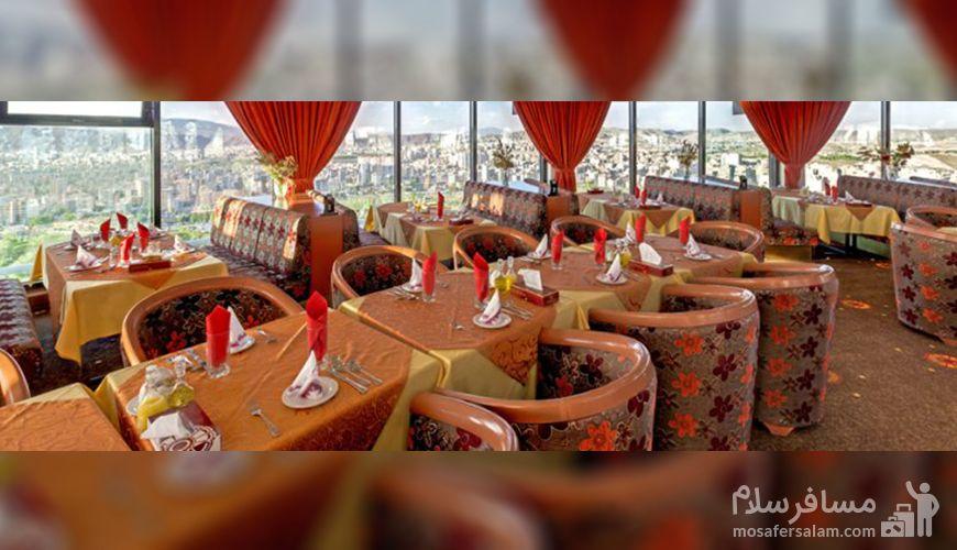 تجربه صرف غذا در رستوران گردان هتل پارس تبریز