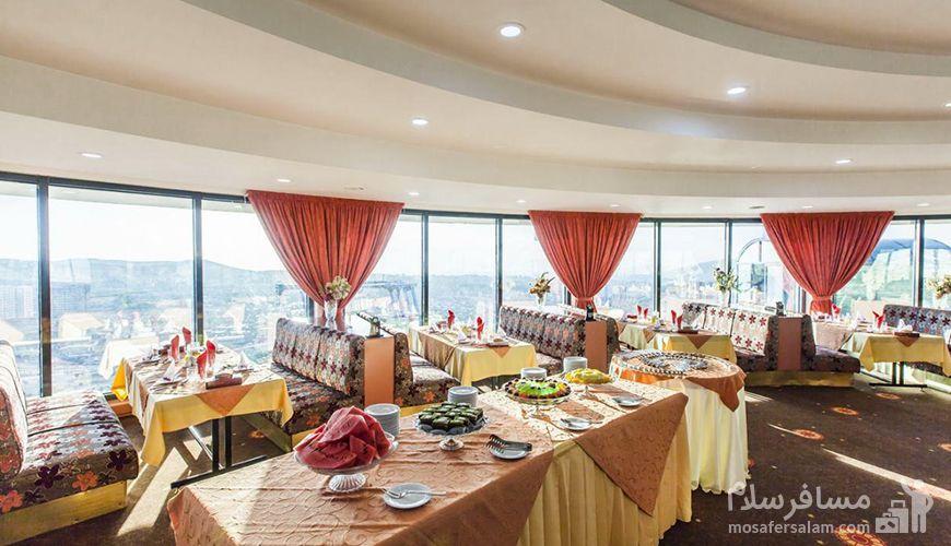 رستوران گردان هتل پارس تبريز, رزرواسيون مسافر سلام