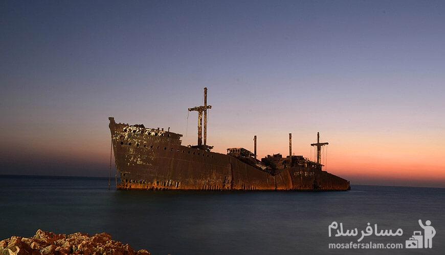 کشتی یونانی, جزیره کیش