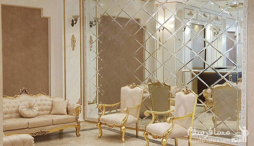 هتل نسیم مشهد لابی آینه کاری