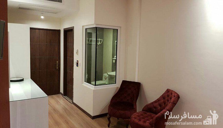 هتل نسیم مشهد حمام داخل اتاق