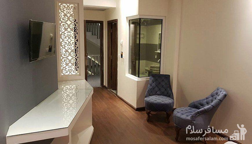 هتل نسیم مشهد فضای درون اتاق