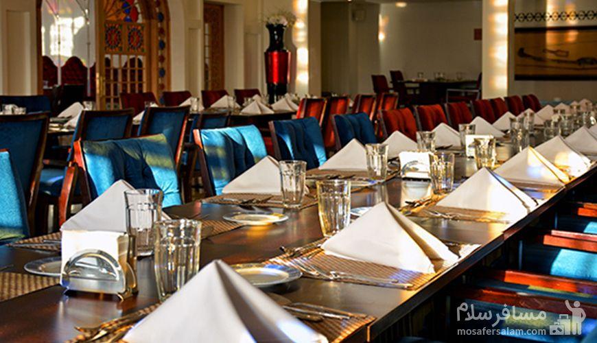 میز غذا رستوران دیبا هتل